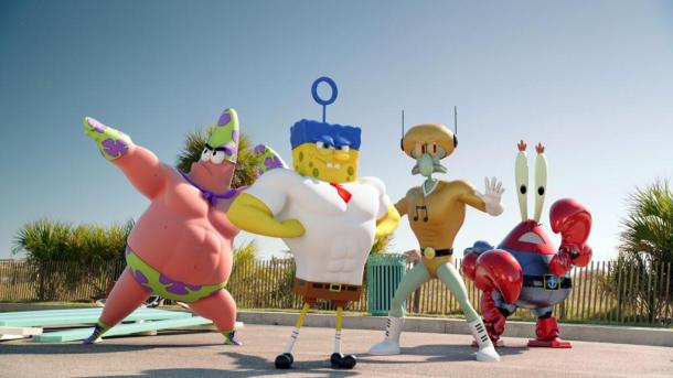Spongebob and the gang are 'Out Of Water' and in theaters.