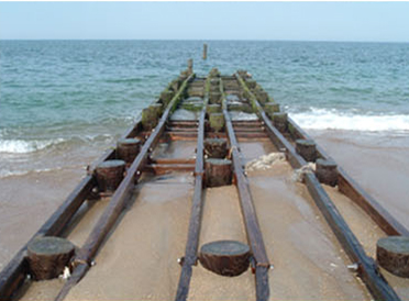 Admiral Street public beach access in Nags Head is temporarily closed for outfall work.