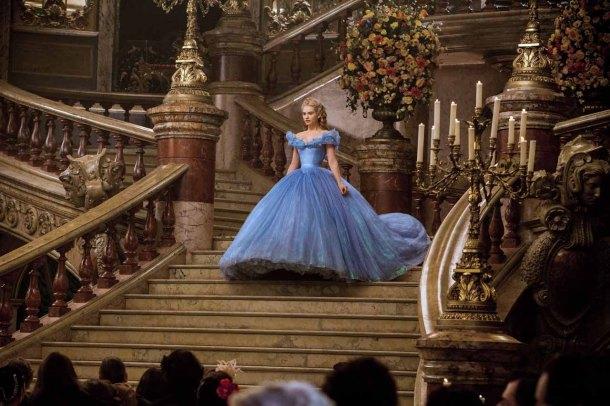 Lily James is 'Cinderella'.