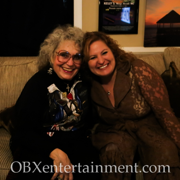 Jolly Roger owner Carol Ann with Sue Artz on the set of the OBX Entertainment original series 'OBXE TV' on February 5, 2015 (photo by Matt Artz for OBXentertainment.com)