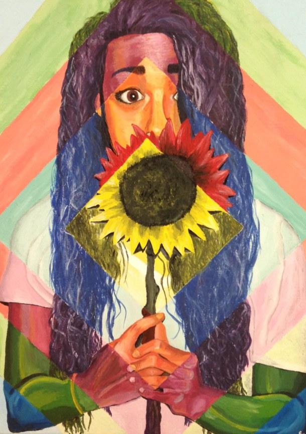 Acrylic by First Flight High School 11th Grader Sarah Mandis.