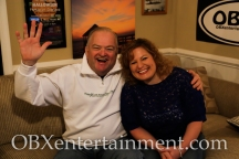 Kelly's owner Mike Kelly with Sue Artz on the set of the OBX Entertainment series 'OBXE TV' on March 5, 2015 (photo by Matt Artz for OBXentertainment.com)